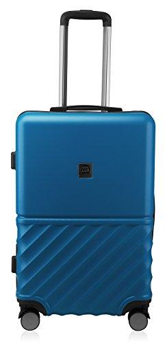 HAUPTSTADTKOFFER - Boxi - Hartschalen-Koffer Koffer Trolley Rollkoffer Reisekoffer TSA, 4 Rollen, 65 cm, 70 Liter, Dunkelblau - 2