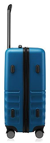 HAUPTSTADTKOFFER - Boxi - Hartschalen-Koffer Koffer Trolley Rollkoffer Reisekoffer TSA, 4 Rollen, 65 cm, 70 Liter, Dunkelblau - 4