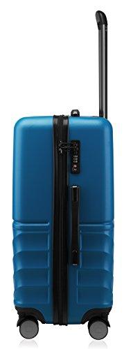 HAUPTSTADTKOFFER - Boxi - Hartschalen-Koffer Koffer Trolley Rollkoffer Reisekoffer TSA, 4 Rollen, 65 cm, 70 Liter, Dunkelblau - 5