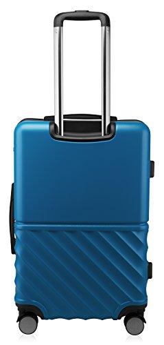HAUPTSTADTKOFFER - Boxi - Hartschalen-Koffer Koffer Trolley Rollkoffer Reisekoffer TSA, 4 Rollen, 65 cm, 70 Liter, Dunkelblau - 6