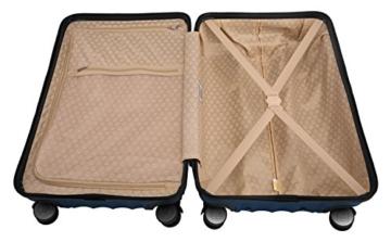 HAUPTSTADTKOFFER - Boxi - Hartschalen-Koffer Koffer Trolley Rollkoffer Reisekoffer TSA, 4 Rollen, 65 cm, 70 Liter, Dunkelblau - 7