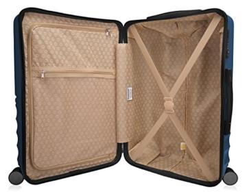 HAUPTSTADTKOFFER - Boxi - Hartschalen-Koffer Koffer Trolley Rollkoffer Reisekoffer TSA, 4 Rollen, 65 cm, 70 Liter, Dunkelblau - 8