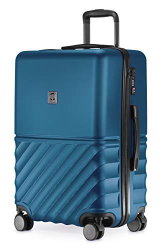 HAUPTSTADTKOFFER - Boxi - Hartschalen-Koffer Koffer Trolley Rollkoffer Reisekoffer TSA, 4 Rollen, 65 cm, 70 Liter, Dunkelblau - 1