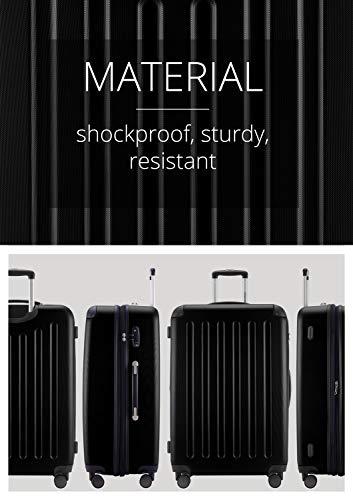 HAUPTSTADTKOFFER - Spree - Hartschalenkoffer Rollkoffer + Kofferanhänger, erweiterbarer Reisekoffer, 4 Rollen, TSA, 75 cm, 119 Liter, Schwarz - 7