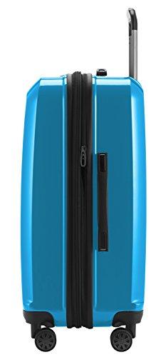 HAUPTSTADTKOFFER - X-Berg - Hartschalenkoffer Koffer Trolley Rollkoffer, 65 cm, 90 Liter, TSA, Cyanblau Glanz - 7