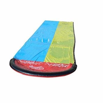 Hete-supply Hinterhof Wasserrutsche für Kinder Erwachsene, Gartenrennen Doppel Wasserrutschen Matte, aufblasbares Surfbrett, Sommerspray Wasserspielzeug, Outdoor Grass Game - 6