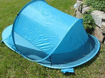 IMC Manufactoria Pop-Up Strandmuschel blau Wurf-Zelt Strand Camping Sonnen-Schutz Wind XXL Familien Kinder Baby türkis - 2