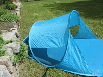IMC Manufactoria Pop-Up Strandmuschel blau Wurf-Zelt Strand Camping Sonnen-Schutz Wind XXL Familien Kinder Baby türkis - 3