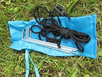 IMC Manufactoria Pop-Up Strandmuschel blau Wurf-Zelt Strand Camping Sonnen-Schutz Wind XXL Familien Kinder Baby türkis - 4