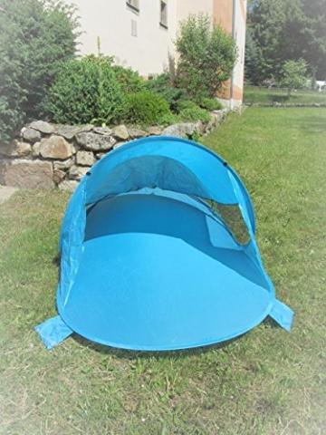 IMC Manufactoria Pop-Up Strandmuschel blau Wurf-Zelt Strand Camping Sonnen-Schutz Wind XXL Familien Kinder Baby türkis - 5