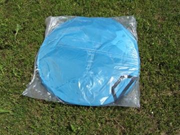IMC Manufactoria Pop-Up Strandmuschel blau Wurf-Zelt Strand Camping Sonnen-Schutz Wind XXL Familien Kinder Baby türkis - 6