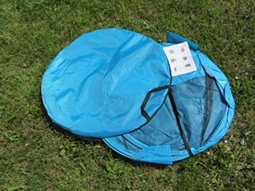 IMC Manufactoria Pop-Up Strandmuschel blau Wurf-Zelt Strand Camping Sonnen-Schutz Wind XXL Familien Kinder Baby türkis - 7