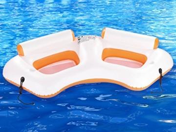 infactory Wassersessel: Aufblasbares 2-Personen-Wassersofa mit Becherhaltern (Wassercouch) - 3