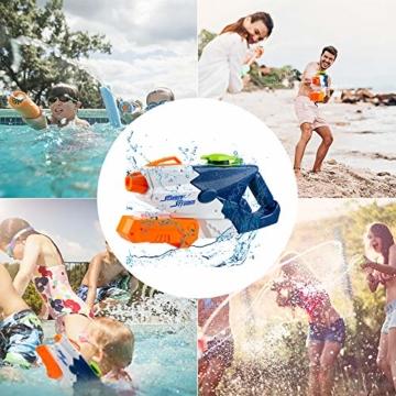 infinitoo Wasserpistole Spritzpistolen 1L, Water Gun Spielzeug für Kinder Water Blaster Badespielzeug Strandspielzeug Erwachsener(Wasser oder Eiswürfel hinzufügen) - 2