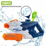 infinitoo Wasserpistole Spritzpistolen 1L, Water Gun Spielzeug für Kinder Water Blaster Badespielzeug Strandspielzeug Erwachsener(Wasser oder Eiswürfel hinzufügen) - 1