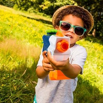 infinitoo Wasserpistole Spritzpistolen 1L, Water Gun Spielzeug für Kinder Water Blaster Badespielzeug Strandspielzeug Erwachsener(Wasser oder Eiswürfel hinzufügen) - 6