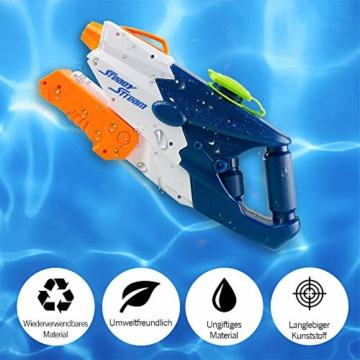 infinitoo Wasserpistole Spritzpistolen 1L, Water Gun Spielzeug für Kinder Water Blaster Badespielzeug Strandspielzeug Erwachsener(Wasser oder Eiswürfel hinzufügen) - 7