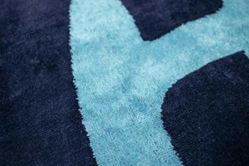 jilda-tex Strandtuch 90x180 cm Badetuch Strandlaken Handtuch 100% Baumwolle Velours Frottier Pflegeleicht (Chill Blue) - 2