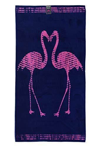 jilda-tex Strandtuch 90x180 cm Badetuch Strandlaken Handtuch 100% Baumwolle Velours Frottier Pflegeleicht (Flamingos) - 4