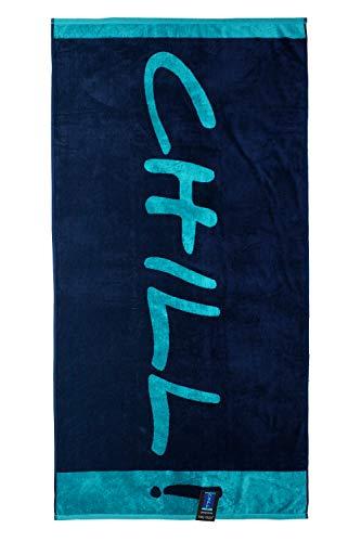 jilda-tex Strandtuch 90x180 cm Badetuch Strandlaken Handtuch 100% Baumwolle Velours Frottier Pflegeleicht (Chill Blue) - 5