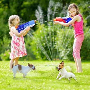 Joyjoz Wasserpistole Wasserspritzpistolen 2er Pack Wasser Blaster Water Gun Wasserpistole klein für Sommer Freibad Strand Wasserspaß für Kinder und Erwachsene (2 x 400 ml) - 2
