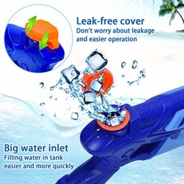 Joyjoz Wasserpistole Wasserspritzpistolen 2er Pack Wasser Blaster Water Gun Wasserpistole klein für Sommer Freibad Strand Wasserspaß für Kinder und Erwachsene (2 x 400 ml) - 4