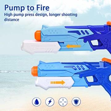 Joyjoz Wasserpistole Wasserspritzpistolen 2er Pack Wasser Blaster Water Gun Wasserpistole klein für Sommer Freibad Strand Wasserspaß für Kinder und Erwachsene (2 x 400 ml) - 6