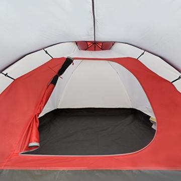 JUSTCAMP Kuppelzelt Scott 3, Campingzelt mit Vorraum, Iglu-Zelt für 3 Personen (doppelwandig) - grau - 5
