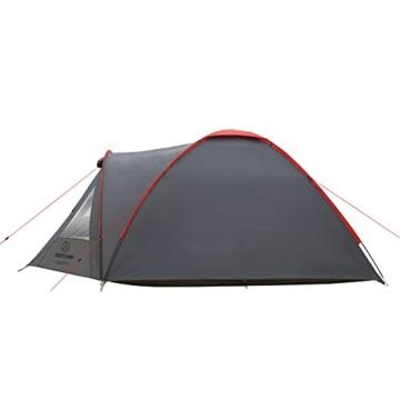 JUSTCAMP Kuppelzelt Scott 3, Campingzelt mit Vorraum, Iglu-Zelt für 3 Personen (doppelwandig) - grau - 7