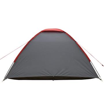 JUSTCAMP Kuppelzelt Scott 3, Campingzelt mit Vorraum, Iglu-Zelt für 3 Personen (doppelwandig) - grau - 9