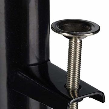 Leikance Sonnenschirmhalter Clip, Stahl, Balkonschirmständer Schirmhalter für quadratische Balkonstangen - 2