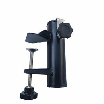 Leikance Sonnenschirmhalter Clip, Stahl, Balkonschirmständer Schirmhalter für quadratische Balkonstangen - 8