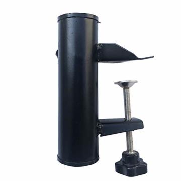 Leikance Sonnenschirmhalter Clip, Stahl, Balkonschirmständer Schirmhalter für quadratische Balkonstangen - 9
