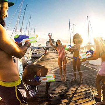 lenbest Wasserpistole, 2 Pack Wasser Blaster, 1.2L Großer Kapazität & 10 Meter Reichweite, Super Squirt Wasserpistolen - Sommer Partys, Pool, Garten Wasser Geschenk für Kinder Jungen Mädchen - 2