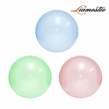 Liamostee Aufblasbarer Ball Wassergefüllter Strand-Softgummiball für Kinder im Freien - 2