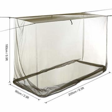 Lixada Camping Moskitonetz 200x90x180cm Campingzelt Outdoor Net für Camping Wanderrucksack - 4