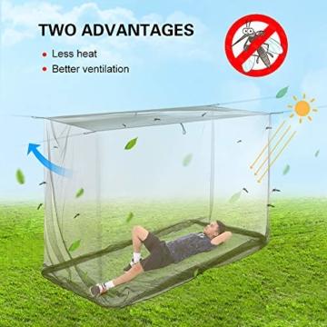 Lixada Camping Moskitonetz 200x90x180cm Campingzelt Outdoor Net für Camping Wanderrucksack - 9