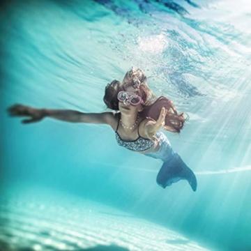 Mermaid MEERJUNGFRAU Mädchen Badetuch · Duschtuch · Strandtuch · Ocean Girl · türkis, rosa, pink · 75 x 150 cm - 100% Baumwolle - 4