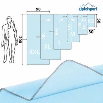 Mikrofaser Handtuch Set - Microfaser Handtücher für Sauna, Fitness, Sport I Strandtuch, Sporthandtuch I 1x XXL(200x90cm) I Hellblau - 3