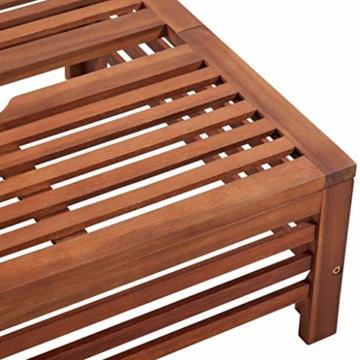 Nishore Abdeckung für Sonnenschirmständer Balkonschirmständer aus Holz 62 x 62 x 25 cm (L x B x H) - 3