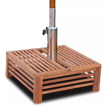 Nishore Abdeckung für Sonnenschirmständer Balkonschirmständer aus Holz 62 x 62 x 25 cm (L x B x H) - 4