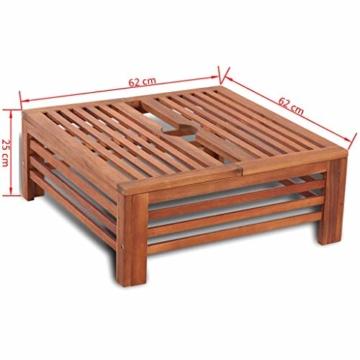 Nishore Abdeckung für Sonnenschirmständer Balkonschirmständer aus Holz 62 x 62 x 25 cm (L x B x H) - 6