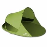 outdoorer Wurf-Strandmuschel Zack II grün - als Pop up Strandmuschel selbstaufbauend, UV 60 Sonnenschutz, Windschutz, großes Strandzelt - 1