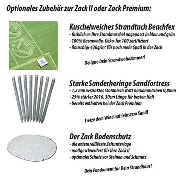 outdoorer Wurf-Strandmuschel Zack II grün - als Pop up Strandmuschel selbstaufbauend, UV 60 Sonnenschutz, Windschutz, großes Strandzelt - 3