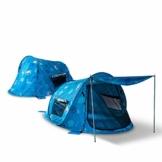 outdoorer Wurf-Strandmuschel zum Verschließen Zack Premium Sealife - verschließbare Strandmuschel, Popup, UV-Schutz 80, Insekten-, Sicht- und Sonnenschutz für die ganze Familie - 1