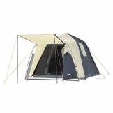 Outsunny Pop-Up Zelt für 3-4 Personen, Campingzelt mit Heringen, Kuppelzelt, Polyester, Dunkelgrau, 455 x 225 x 175 cm - 1