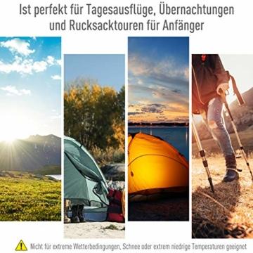 Outsunny Pop-Up Zelt für 3-4 Personen, Campingzelt mit Heringen, Kuppelzelt, Polyester, Dunkelgrau, 455 x 225 x 175 cm - 5