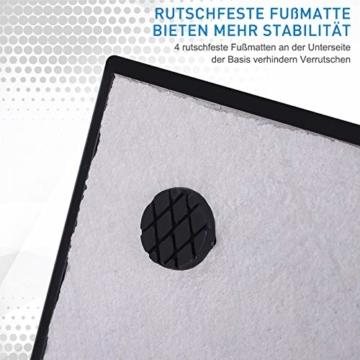 Outsunny Sonnenschirmständer, Schirmhalter, Regenschirm Base, für Ø30 mm, Ø35 mm, Ø38 mm, Metall, Schwarz, 45 x 45 x 39 cm - 4