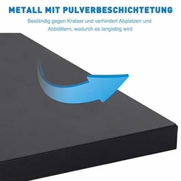 Outsunny Sonnenschirmständer, Schirmhalter, Regenschirm Base, für Ø30 mm, Ø35 mm, Ø38 mm, Metall, Schwarz, 45 x 45 x 39 cm - 7