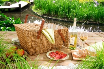 Picknickkorb, honigbraun - 2